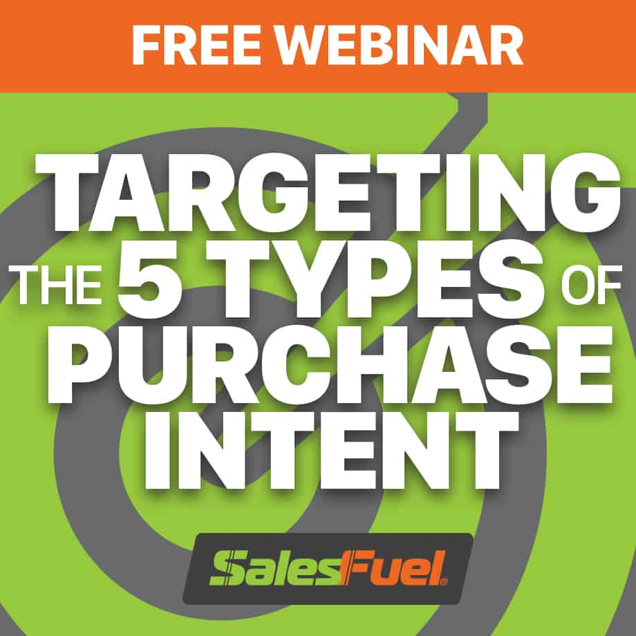 Targeting the Five Types of Purchase Intent Free Webinar