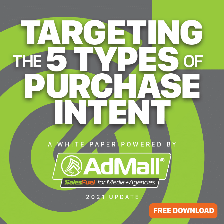 Purchase intent sales research for consumer and B2B from AdMall and SalesFuel