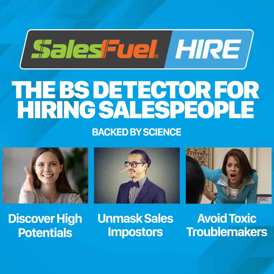SalesFuel HIRE assessments sales aptitude tests