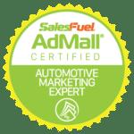 AdMall Certified Automotive Marketing Expert - SalesFuel Digital Badge
