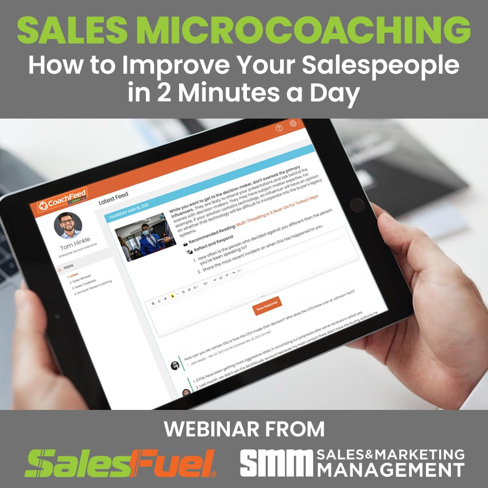 Sales Microcoaching Webinar with C. Lee Smith and SMM Sales and Marketing Management