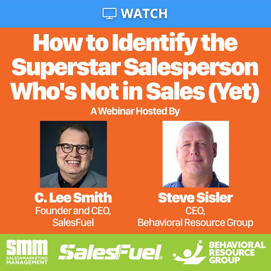 Sales and Marketing Management Webinar Hiring Salespeople Internally Mindset Unconventional